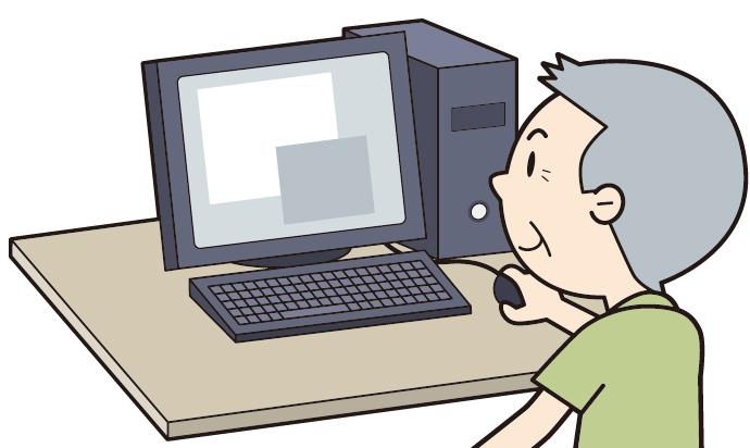 老人とパソコン