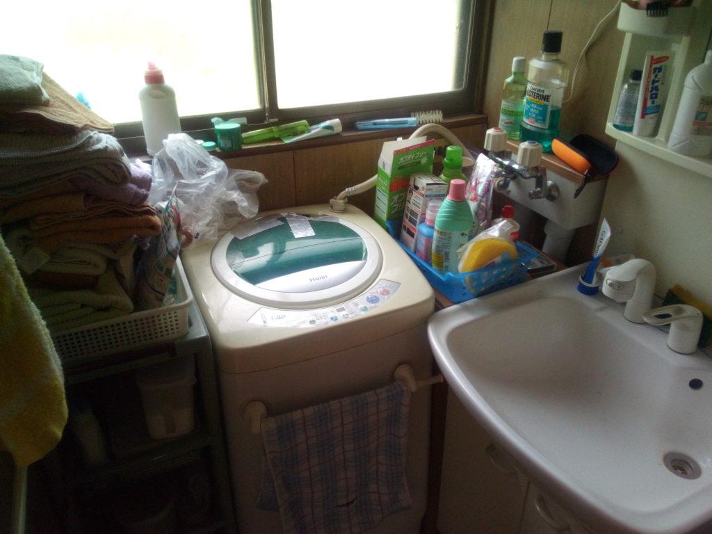 洗面所の散らかり