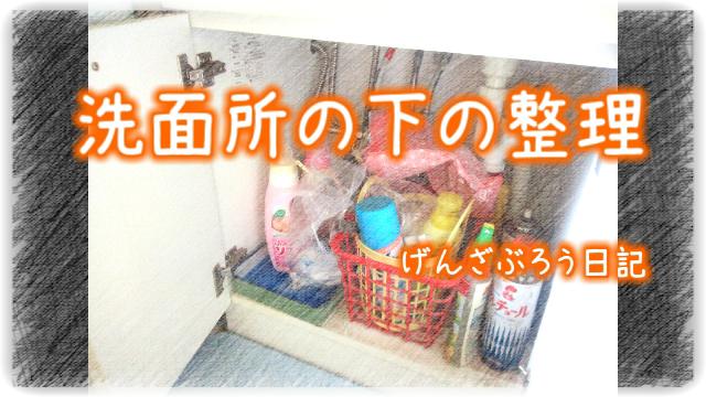 洗面所の下の整理OP
