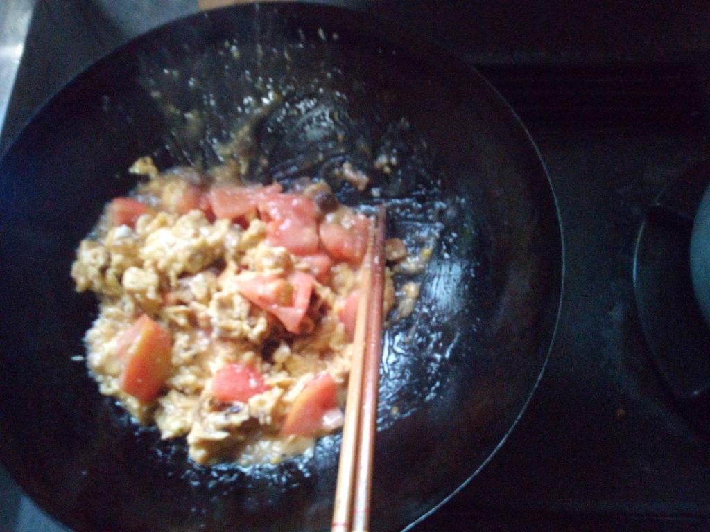 ふわ玉トマト炒め7