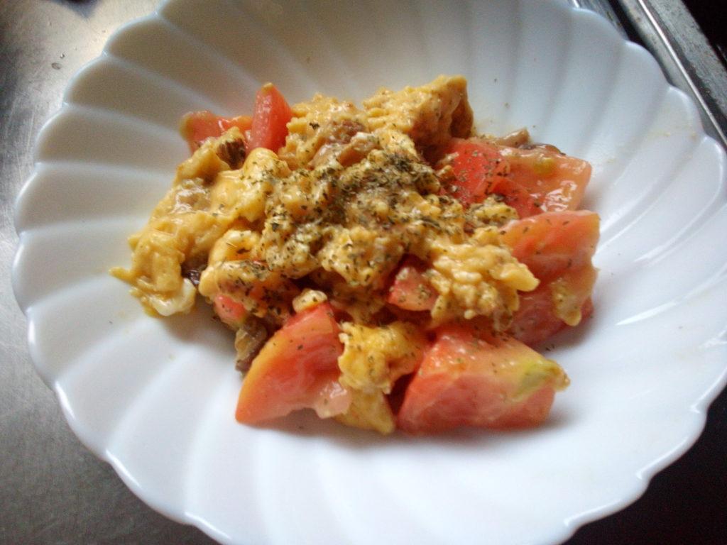 ふわ玉トマト炒め6