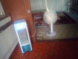 冷風扇併用