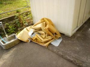捨てるカーペット