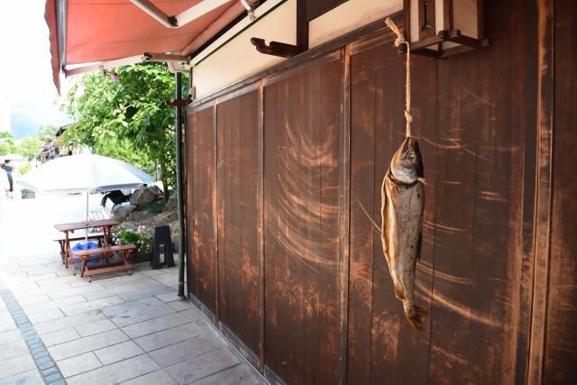 軒先の新巻鮭